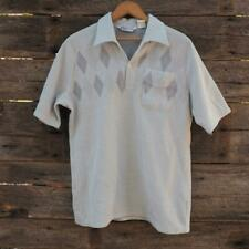Vtg 1970's Mens Size Lt Large Polo Shirt California Casualaire made in Usa
