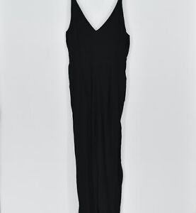 Women's Madewell V-Neck Wide Leg Jumpsuit, Black, Size 10