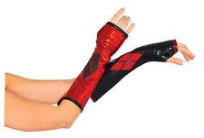 Harley Quinn Gauntlets Fingerless Gloves Arkham Batman Costume Sexy Womens Adult