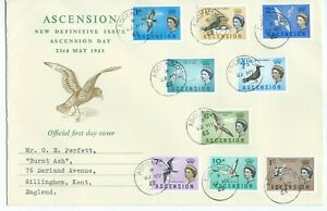 Definitive Issue Ascension Day 1963 Official First Day Cover Low Values to 1/-