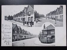 London HERNE HILL Peabody Cottage ROSENDALE ROAD c1908 by A.W. Durrell