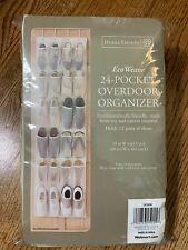 24-Pocket Over Door Shoe Organizer - EcoWeave Soy & Canvas Material - NEW