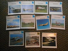 USSR Attack & Close Support Military Warplanes Aircraft Lot 11 Info Photo Cards