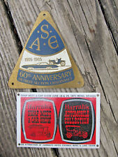 S*A*E 1905-1960 Detroit Section Observance 60th ANNIVERSARY Very RARE Car Plaque