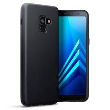 Cover per Samsung Galaxy A8 2018 TPU CASE Gel Custodia per cellulare Nera Opaca