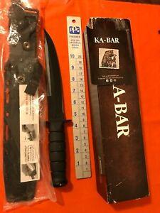 KA-BAR 1266 Full size Fixed Blade Knife w/Kydex sheath, NIB MADE USA