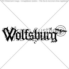 Wolfsburg Car Sticker Very cool High Quality JDM VAG Mazda Seat HONDA VW Audi