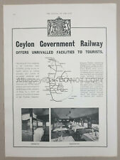 1930 CEYLON GOVERNMENT RAILWAY Ad Advertising  10in x 13.50in