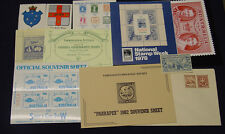 Exhibition issues, stamp souvenirs, oddities, 11 items.