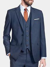 Burton Tailored Fit Navy Textured Suit Jacket 42l Td180 QQ 10