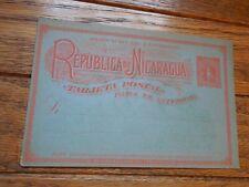 Nicaragua 1894 Postal Card Hg#24 Stationery Hg #24 Stamp
