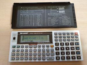 SHARP PC-1403 Pocket Computer, BASIC Calculator, Taschenrechner #793