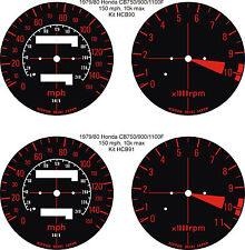 HONDA CB750F CB900F CB1100F SPEEDOMETER TACH REV COUNTER GAUGE DIAL OVERLAYS
