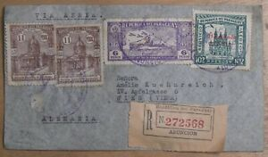 Mayfairstamps Paraguay 1930s Asuncion Zeppelin Cancels Registered Vienna Austria