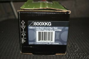 New Sealed Box Genuine OEM Lexmark 800XKG Extra High Yield Black Return Program