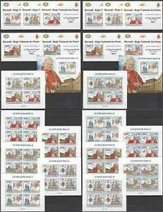 BU175 IMPERF,PERF 2013 BURUNDI POPE JOHN PAUL II GREAT HUMANISTS 12KB+12BL MNH