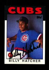 1986 TOPPS BILLY HATCHER #46 CUBS SIGNED VINTAGE AUTO BOLD!