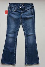 Womens Silver Brand EDEN Medium Blue Wash Boot Cut Jeans Size 26x31 W26/L31