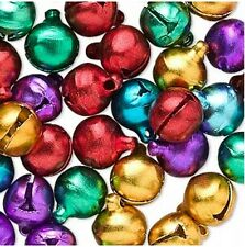 Jingle Bells Multi Color Jewelry Charm Christmas Holiday Craft Lot of 100