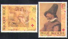 BELGIQUE 1993 Croix Rouge fonds/santé/ART/PEINTURES/RUBENS/Brouwer 2 V Set (n34236)