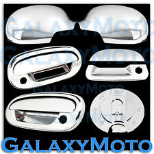 97-03 Ford F150 Chrome Mirror+2 Door Handle+Keypad+w/PSG KH+Tailgate+GAS Cover