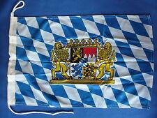 Bootsflagge BAYERN mit Löwen Bootsfahne  Motorradflagge Bayrische Boots Flagge