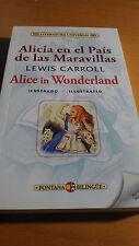 ALICIA EN EL PAIS DE LAS MARAVILLAS ALICE IN WONDERLAND SPANISH INGLES
