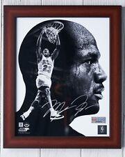 NBA Chicago Bulls MJ Michael Jordan Autographed Upper Deck Photo + Framed & COA