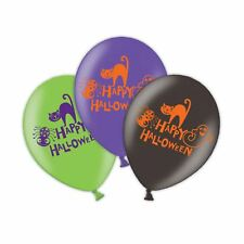 Halloween 4 Sided Latex Cat Themed Balloons 6  Suitable for Helium Multicolour