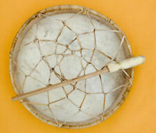 NATIVE AMERICAN HAND DRUM BUFFALO HIDE FRAME DRUM 20 INCHES .,: WITH BEATER'''