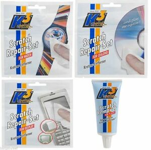 Plastic  Polish Scratch Remover Kit Cd Dvd Car Headlamps Watch Face Phone Screen