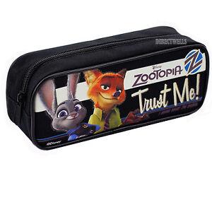 Disney Zootopia Authentic Licensed Good Quality Black Pencil Case