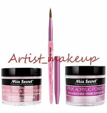 Mia Secret Acrylic Nail Powder Pink + Multibalance 2 oz + Kolinsky Brush # 3D