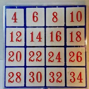 CHALLENING NUMBER PUZZLE  game, great math skills New Last one