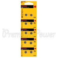 10 x Kodak AG5 / LR48 batteries 1.5V Max Alkaline Cell 309 193 LR754 SR48