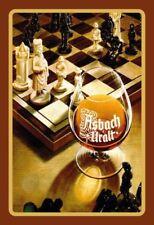 Asbach Uralt Schach Blechschild Schild gewölbt Metal Tin Sign 20 x 30 cm