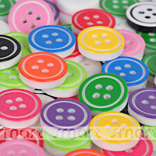 50PCS Mixed Colors Resin Cartoon Round Button Sewing Craft Decoration 11.5mm-A