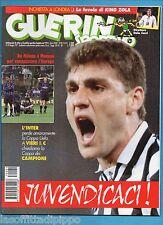 GUERIN SPORTIVO-1997 n.21- VIERI-BAGGIO-ZOLA -CALCIOMONDO