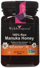 Wedderspoon Manuka Honey Active 16+ 100% Raw Premium 17.6 Oz 500g Exp Nov 2019