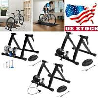 Fluid Magnetic Bike Bicycle Trainer Indoor Stationary Exercise Stand Steel Frame