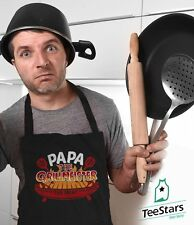 New Father's Day Gift - Papa The Grillmeister Bbq Chef Apron for Bbq Barbecue