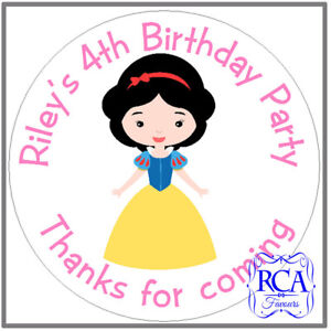 24 x Personalised Kids Childrens Birthday Party 'Thanks for coming' stickers DPD
