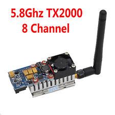 Brand 5.8Ghz TX2000/MW/2W Long Range FPV AV Video 8 Channel Transmitter Module