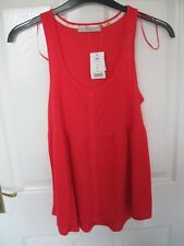 Asda George Size 8 Top Pink Strappy Floaty Vest Summer Beach Long 10