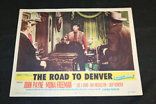 1955 The Road to Denver Lobby Card #8 John Payne Mona Freeman 55-267 (C-5)