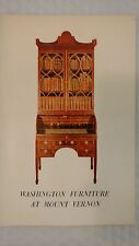 Washington Furniture At Mount Vernon Paperback 1966 by Helen Maggs FEDE (Author)