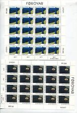 Faroe Islands 1996 Europa Art Paintings Mnh Sheets x 20 Stamps (2 Items)