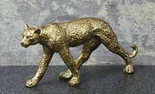Jaguar Panther Leopard Big Cat Collector Statue 24K Gold Silver Gift Animal/_UKFS