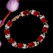 1pc Elegant Top 18k Yellow Gold Filled Austrian Crystal Women Color Bracelet