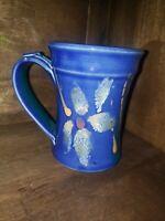 Pottery Handmade Wheel Thrown Studio Coffee Mug/Cup Blue & Turquoise Glaze